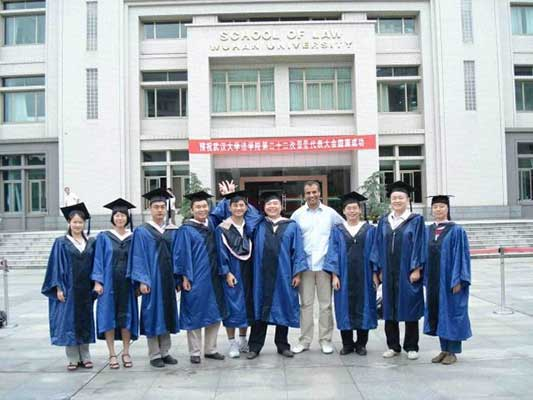 Students at Wuhan University of Technology - China